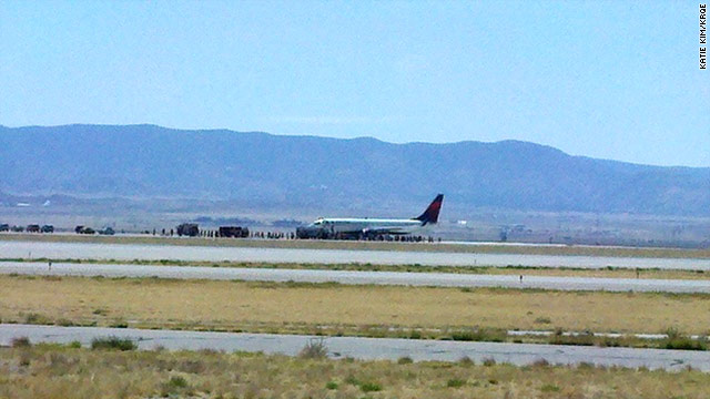 Delta Flight 1706 from Detroit to San Diego landed in Albuquerque, New Mexico, because of a possible security threat.