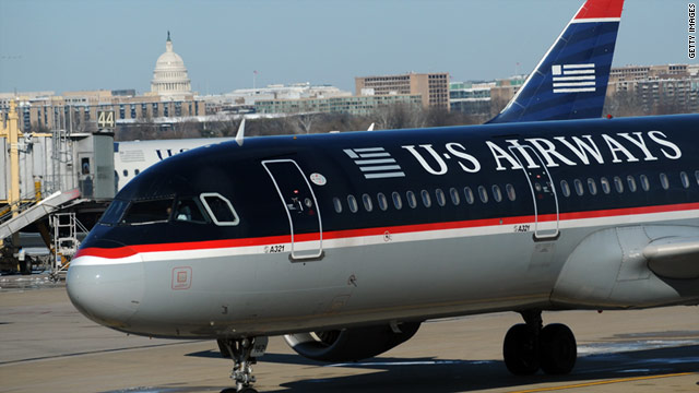 US Airways received the lowest marks for cabin-crew service in a Consumer Reports survey.
