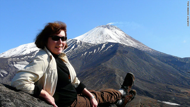 Donna Hull, who writes a baby boomer travel blog, tours volcanoes on the Kamchatka Peninsula in Siberia, Russia.