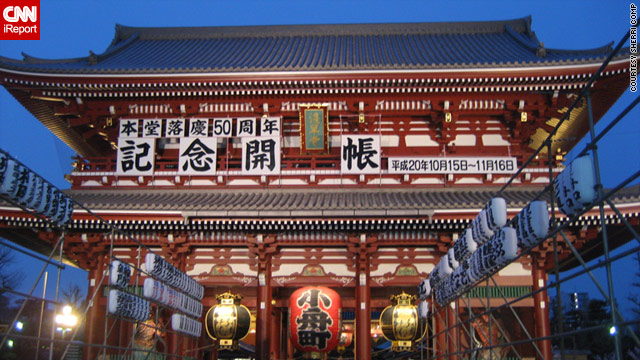 The magnificent Sensoji Temple is a major tourist site in Tokyo. Japan has seen a big drop in visitors since the quake.