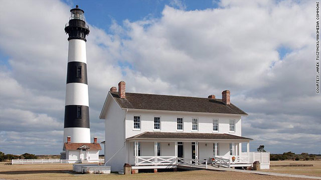 Go to the Outer Banks of North Carolina for lighthouses, unspoiled beaches and East Coast surf.