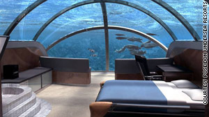 Poseidon Undersea Resort is scheduled to open in late 2012, according to the developer.