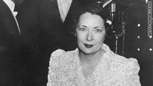 "Author Margaret Mitchell at the 1939 premiere of the film adaptation of her novel ""Gone With the Wind."""