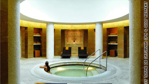 Experience exotic facial treatments at Terme de Saturnia Spa in Italy.