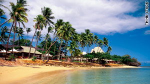 Shangri-La's Fijian Resort and Spa, located on Yanuca Island, is a private island resort.