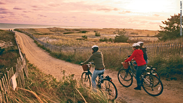 The beaches of Nantucket are connected by miles of bike trails.