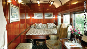 The Pride of Africa offers suites instead of cabins.
