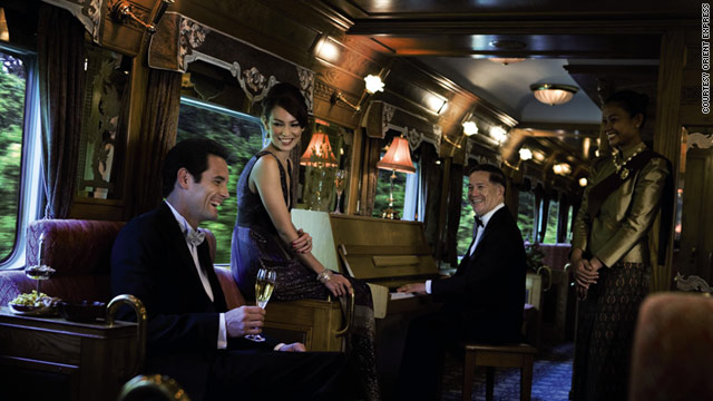 Enjoy a piano serenade as you ride the Eastern &amp; Oriental Express through Asia.