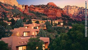 Enchantment Resort is nestled among stunning red rocks, where cell phone service is a challenge.