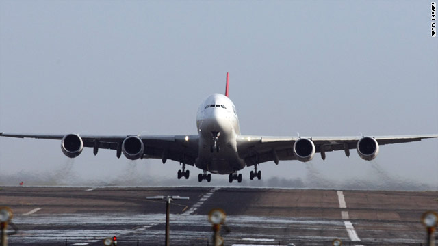 A Qantas A380 lifts off in Sydney on November 27 on its first flight since a mid-air engine explosion three weeks earlier.