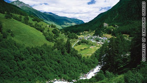 Snowcapped mountains and lush green valleys provide a nice contrast in the Norwegian Fjords.