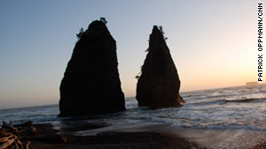 Rialto Beach on Washington's Olympic Peninsula offers peaceful camping and Pacific views.
