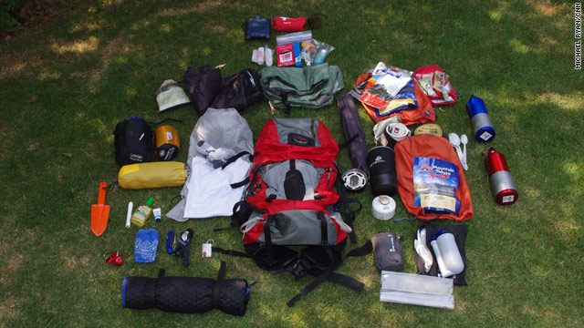 All this will sustain a hiker on the Appalachian Trail for about five days and, with empty water bottles, weighs about 25 pounds.