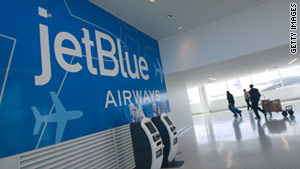A stun gun was found on a JetBlue flight Friday after it arrived in Newark, New Jersey.