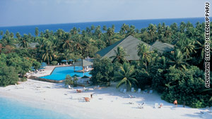 Adaaran Select Meedhupparu is a five-star resort in the Maldives.