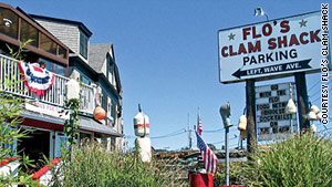 Flo's Clam Shack is a seafood favorite in Portsmouth, Rhode Island.