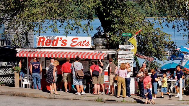 "One fan calls Red's Eats in Wiscasset, Maine, the ""holy grail"" of lobster rolls."