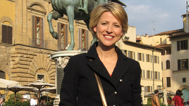 Samantha Brown takes in the sights in Florence, Italy. The popular TV host hast some unusual travel must-haves.