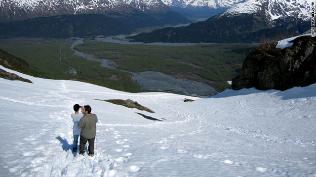 The Harding Icefield Trail in Kenai Fjords National Park provides a stunning view of the mountains near Seward, Alaska.