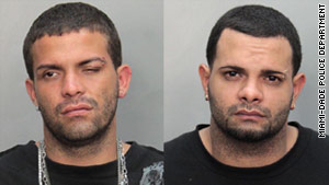 Jonathan Baez, left, and his brother Luis Baez have been charged with aggravated battery.