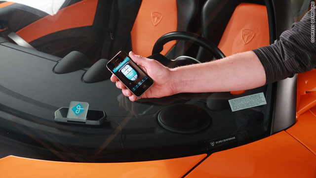 Some of Getaround's cars are fitted with a system that allows them to be reserved and unlocked with a smartphone app.