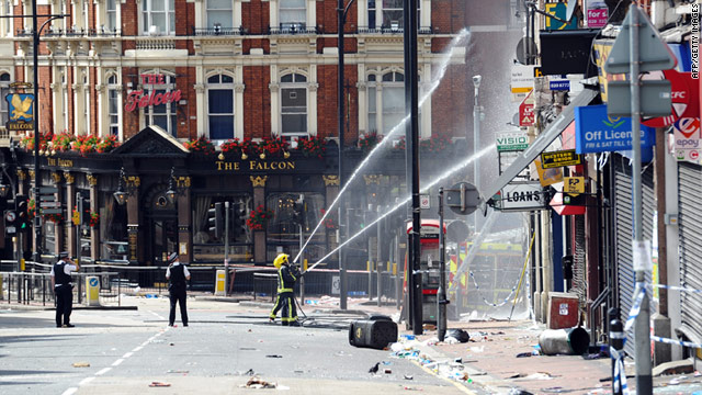 Rioters have damaged neighborhoods across London.