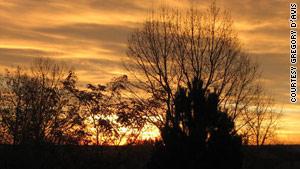 "Colorado's ""fiercer sunlight"" makes for a striking sunset."