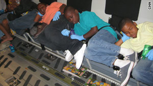 More than 50 Haitian children were airlifted to Pittsburgh in late January 2010.