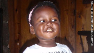 A recent image of Valencia, 15 pounds heavier than when she left Haiti, living with her adoptive parents in Colorado.