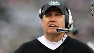 Jets coach Rex Ryan says Sunday's playoff game is a personal battle between him and Pats coach Bill Belichick.