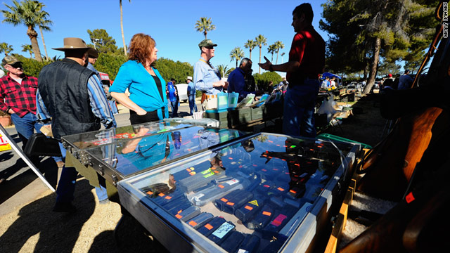 More than 7,000 people were expected to attened the Crossroads of the West Gun Show in Tucson this weekend.