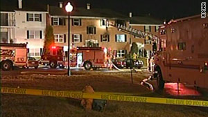 One firefighter died Wednesday in a four-alarm apartment fire in the Parkville area of Baltimore County, Maryland.