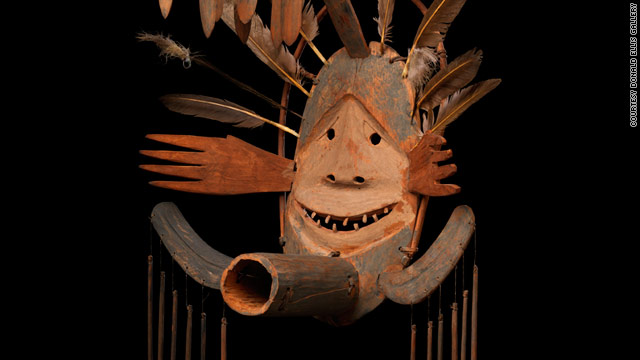 The rare 19th century Donati Studio Mask, made by Yup'ik Eskimo shamans, goes on sale for $2.1 million on Friday.