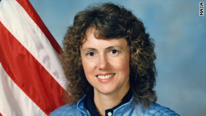 Christa McAuliffe, 37, would have been the first teacher in space. She died with six others aboard the Challenger.