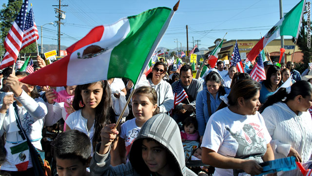 More than 1,500 people in the predominantly Latino suburb off Pacoima took part in the protest Saturday.