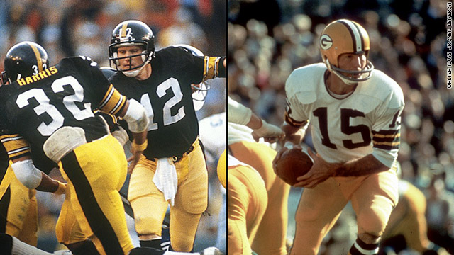 Terry Bradshaw took the Steelers to their first Super Bowl in 1975, and Bart Starr took the Packers to the first-ever Super Bowl.