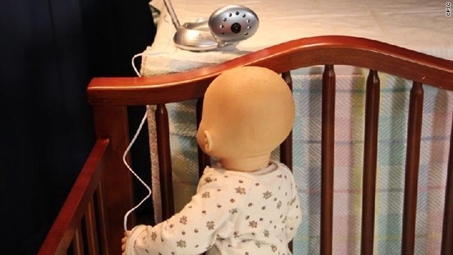 The Consumer Product Safety Commission advises against placing cords or corded cameras within 3 feet of a crib.