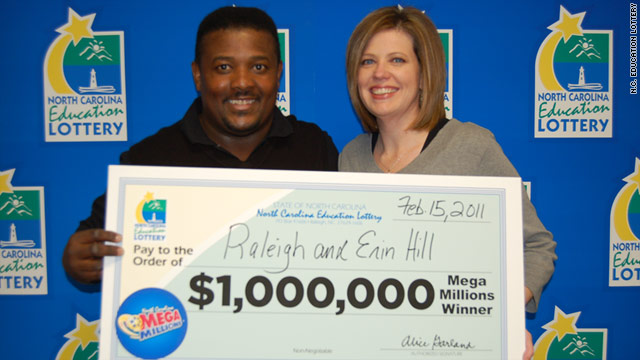 Erin and Raleigh Hill of North Carolina ran the clock waiting to claim their $1 million lottery prize.