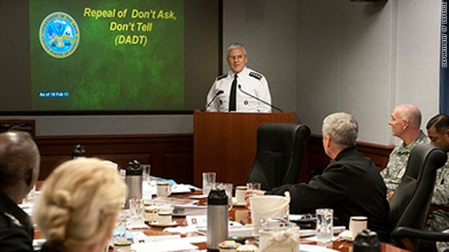 Army Chief of Staff Gen. George W. Casey Jr. launches training Thursday on the repeal of the ban on gays in the military.
