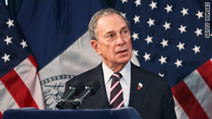 New York Mayor Michael Bloomberg signed the bill banning smoking in many public places on Tuesday.