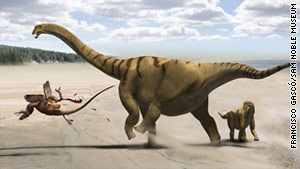 "A new dinosaur dubbed ""thunder-thighs"" has been discovered in Utah, CNN affiliate KWTV reports."