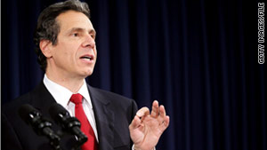 New York Gov. Andrew Cuomo wants to cap superintendents' salaries to help improve the state's finances.