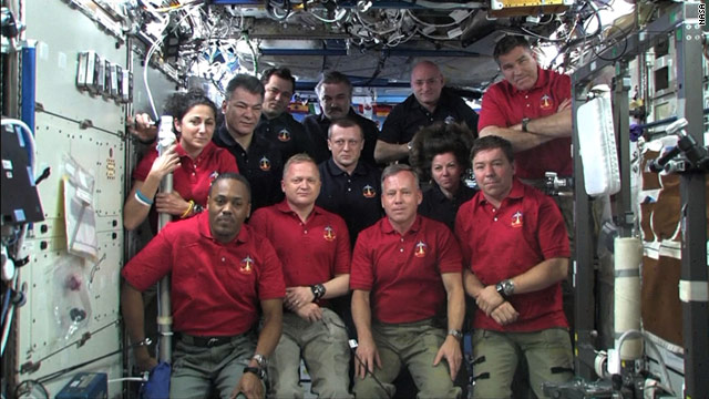 President Obama told the Discovery astronauts how proud he is of them and their mission.