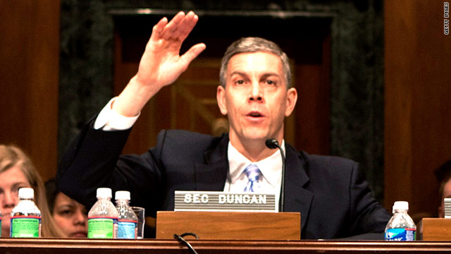 Secretary of Education Arne Duncan gave governors across the country tips on managing their education budgets.