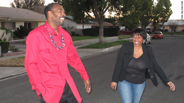 Rodney King and Cynthia Kelly, seen here in a lighter moment during an interview, were riding together when he was stopped.