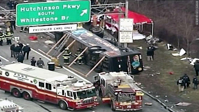 The bus was returning from a Connecticut casino when it overturned.