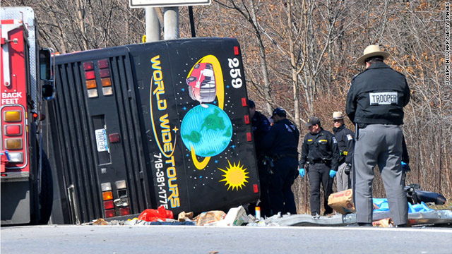 A tour bus flipped over in New York on March 12, killing 15 people.