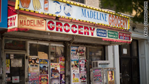 A store in New York's Fort Washington neighborhood has signs in both Spanish and English.