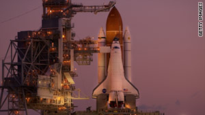 A man fell to his death Monday while working at the launch pad of the space shuttle Endeavour.
