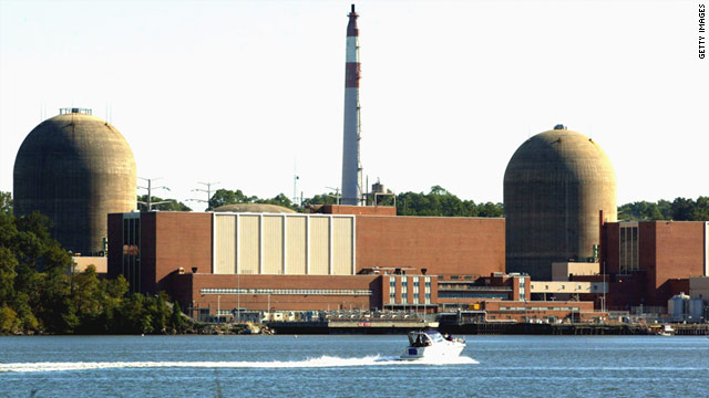 The Indian Point nuclear power plant is 35 miles north of Manhattan.